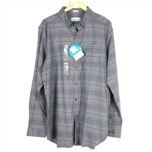 ✅ Columbia Cooper Lake Gray Long Sleeve Shirt NWT